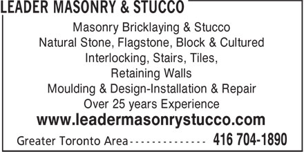Ads Leader Masonry & Stucco