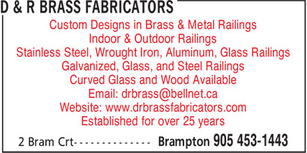 Ads D&amp;R Brass Fabricators