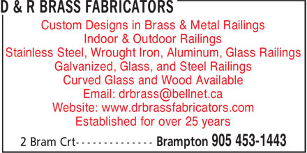 Ads D&R Brass Fabricators