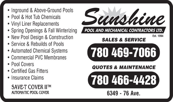 Ads Sunshine Pool & Mechanical Ltd