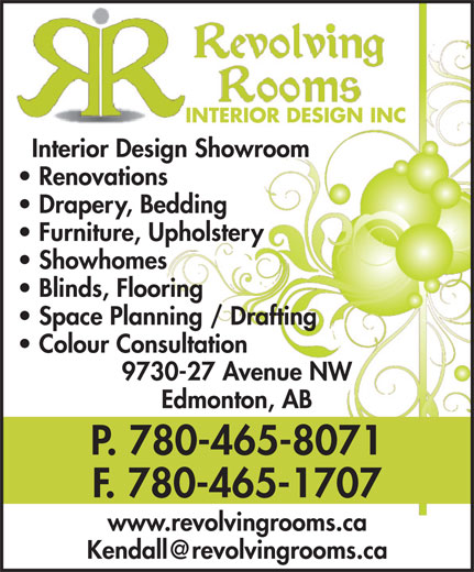 Ads Revolving Rooms Interior Design Inc