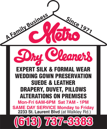 Ads Metro Dry Cleaners