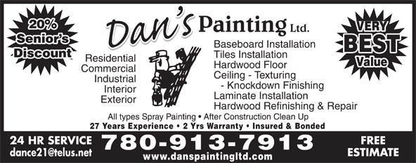 Ads Dan&#039;s Painting Ltd