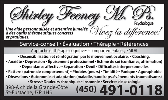 Ads Shirley Feeney Psychologue