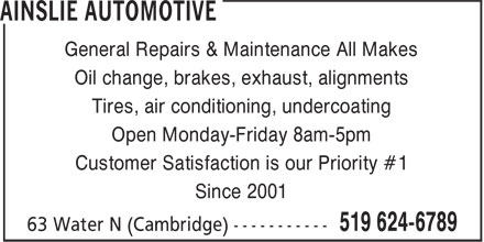 Ads Ainslie Automotive