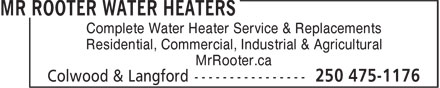 Ads Mr Rooter Plumbing of Victoria
