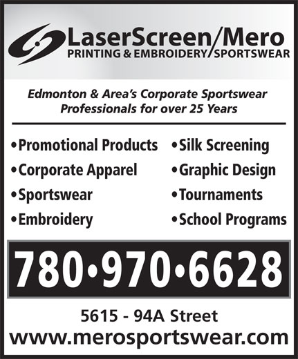 Ads Laser Screen Printing &amp; Embroidery