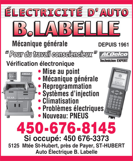 Ads Electricité D'Auto B Labelle