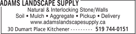 Ads Adams Landscape Supply
