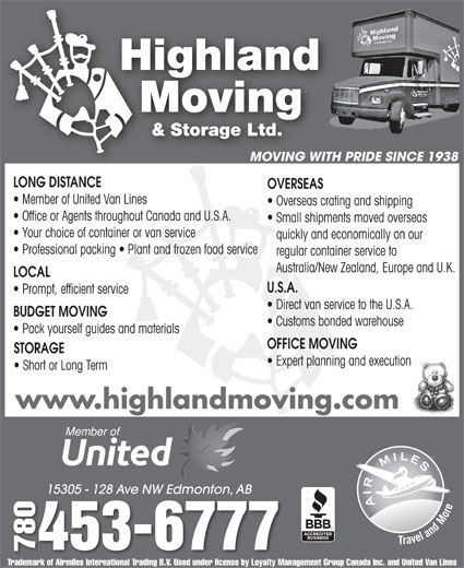 Ads Highland Moving & Storage Ltd