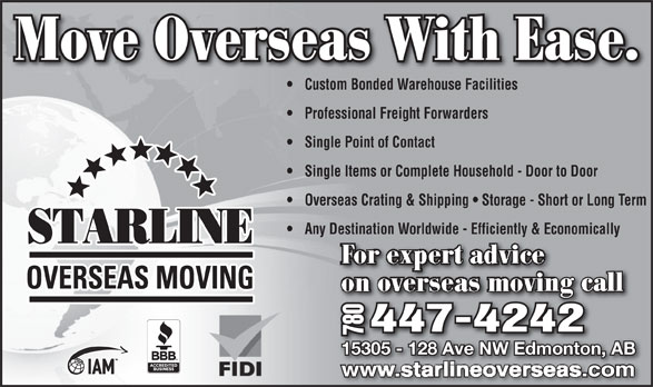 Ads Starline Overseas Moving