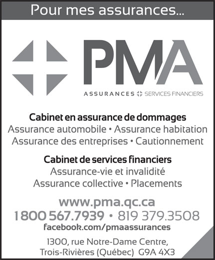Ads PMA Assurances inc