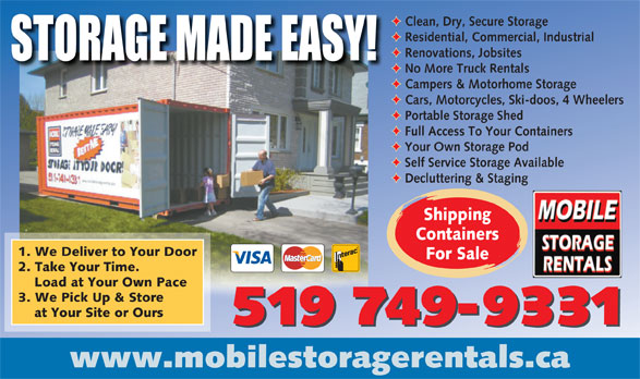 Ads Mobile Storage Rentals