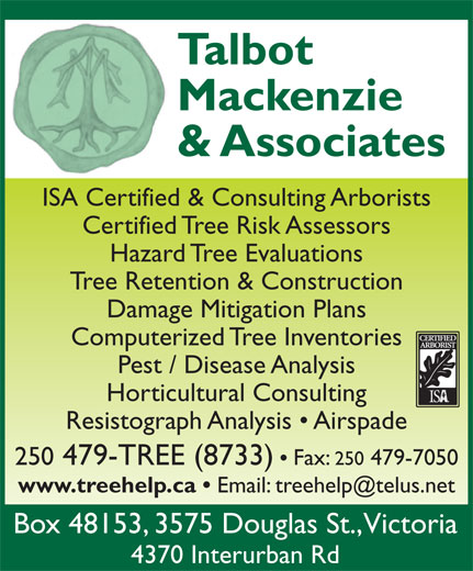 Ads Talbot Mackenzie & Associates Consulting Arborists