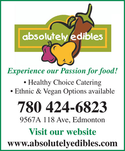 Ads Absolute Edibles Real Food Fusion Restaurant & Catering