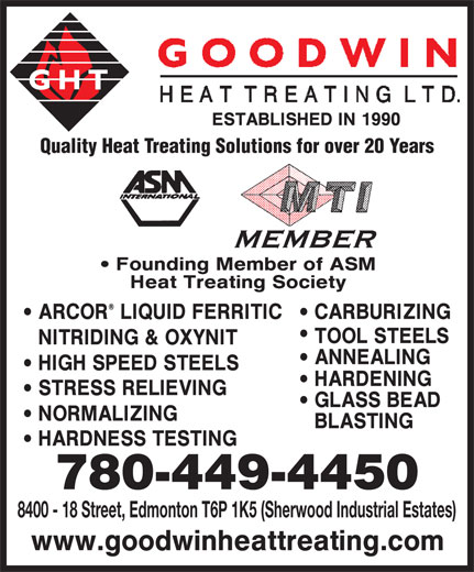 Ads Goodwin Heat Treating Ltd