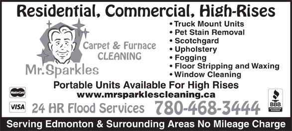 Ads Mr Sparkles Carpet & Furnace Cleaning Ltd
