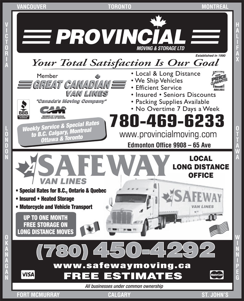 Ads A Safeway Moving & Storage Ltd