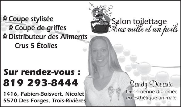 Salon toilettage aux mille et un poils trois rivi res qc 5570 boul des forges canpages fr - Ouvrir un salon de toilettage ...