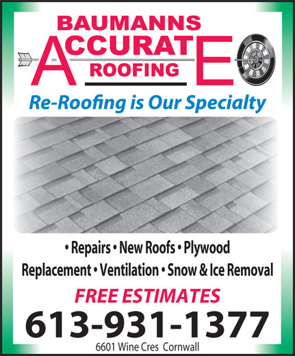 Ads Baumann Accurate Roofing