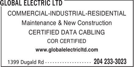 Ads Global Electric Ltd