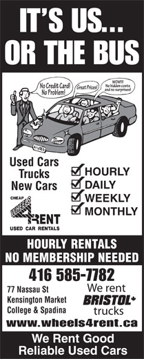 Ads Wheels 4 Rent Corp-Used Car Rentals