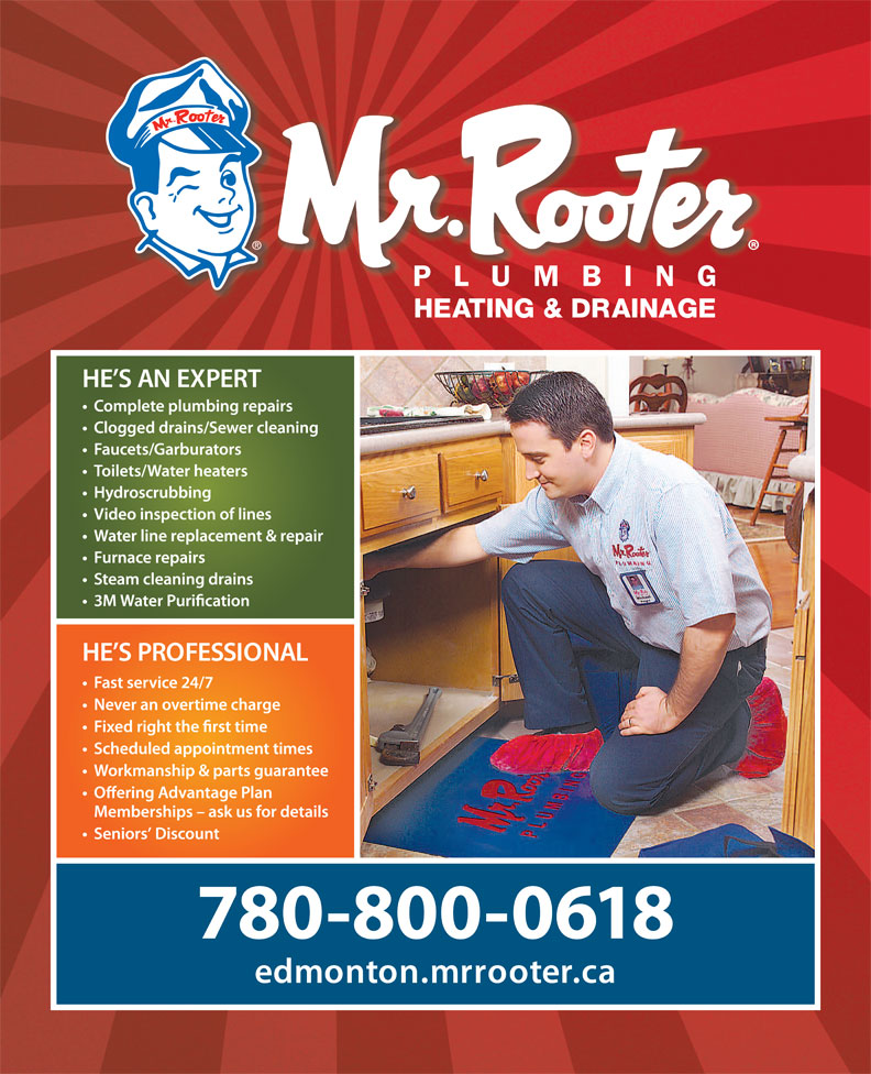 Ads Mr Rooter Plumbing Heating &amp; Drainage