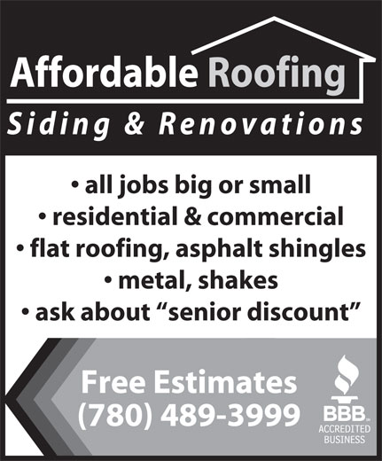 Ads Affordable Roofing &amp; Siding Ltd