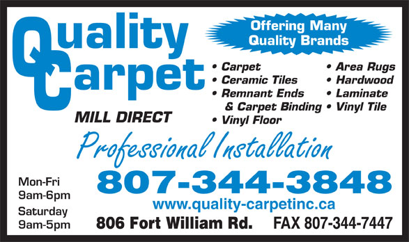 Ads Q C Quality Carpet Inc