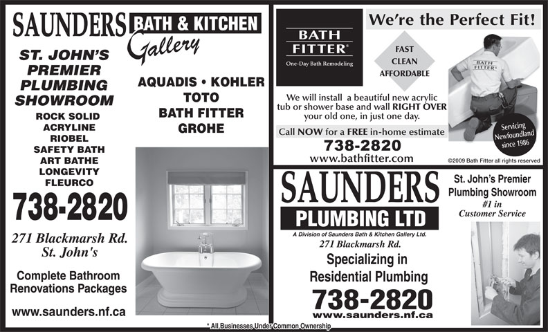 Ads Saunders Bath & Kitchen Gallery & Plumbing