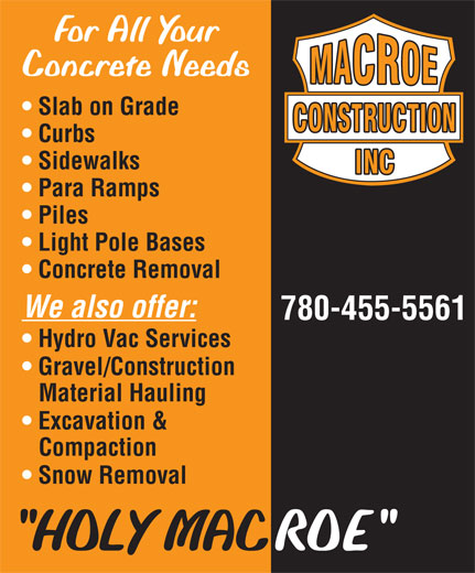Ads Macroe Construction Inc