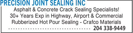 Ads Precision Joint Sealing Inc