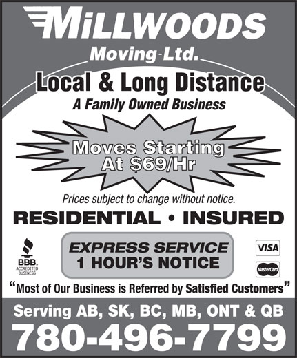 Ads Millwood's Moving & Storage Ltd