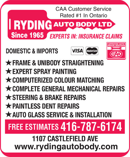 Ads Ryding Auto Body Ltd