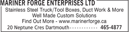 Ads Mariner Forge Enterprises Ltd
