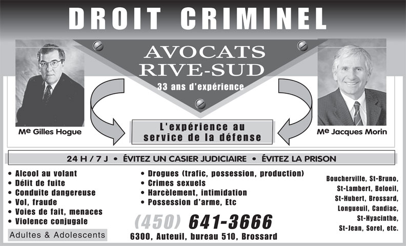 Ads Avocat Rive-Sud Gilles Hogue Jacques Morin