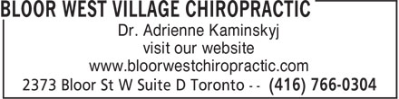 Ads Bloor West Village Chiropractic