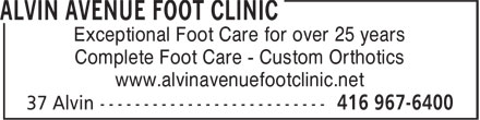 Ads Alvin Avenue Foot Clinic