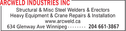 Ads Arcweld Industries Inc