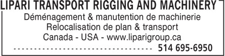 Ads Lipari Transport Rigging & Machinery