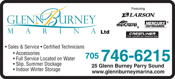 Ads Glenn-Burney Marina Ltd