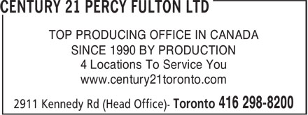 Ads Century 21 Percy Fulton Ltd