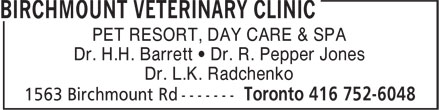 Ads Birchmount Veterinary Clinic