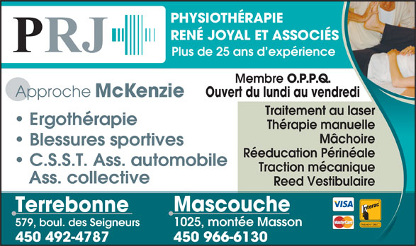 Ads Physiothérapie René Joyal & Associés