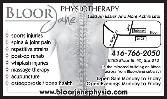 Ads Bloor Jane Physiotherapy & Active Rehabilitation