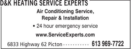 Ads D&K Heating Service Experts