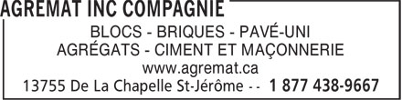 Ads Agremat Inc Compagnie