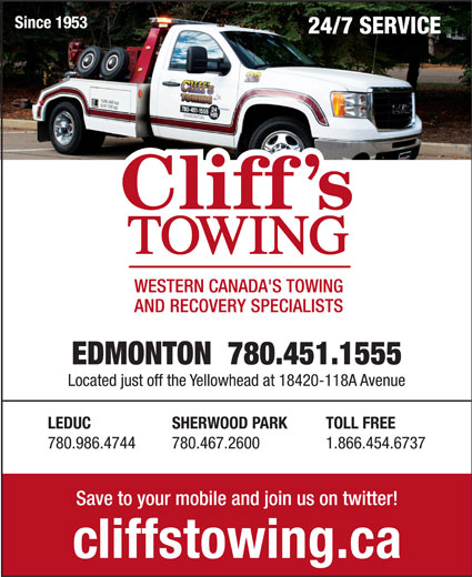 Ads Cliff's Towing