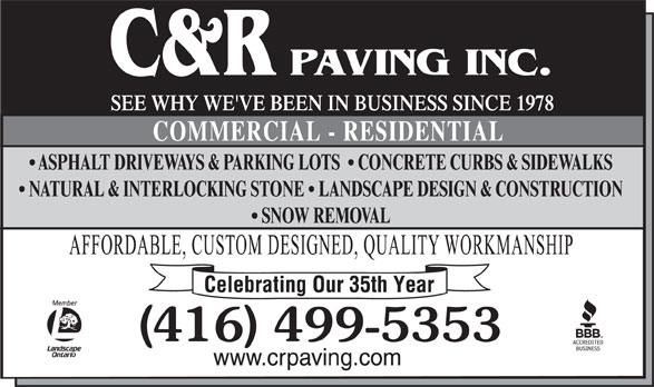 Ads C & R Paving Inc