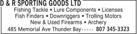 Ads D&R Sporting Goods